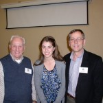 Bob Neir, Marin Harris, Jim Neir after presenting Marin with the Christine Neir Memorial Scholarship